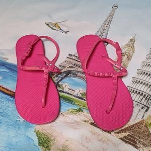 Havaianas pink size 11 sandals